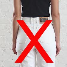 Vita kläder vid mens