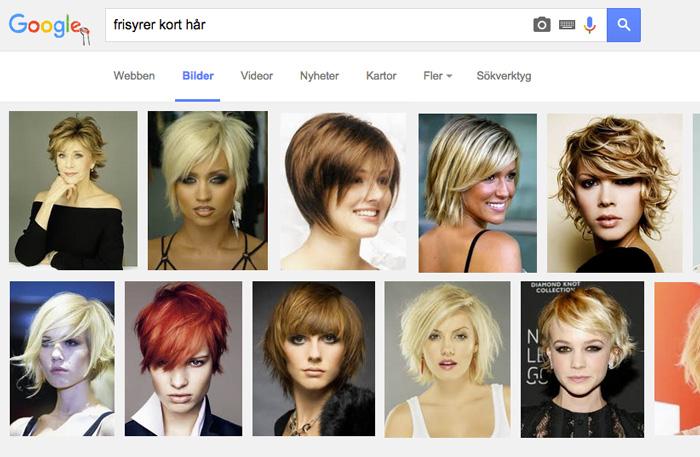 sätta upp kort hår