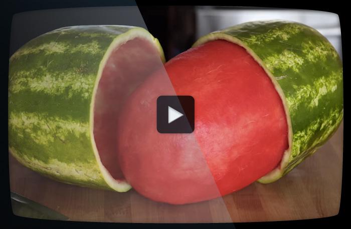 Trick med vattenmelon