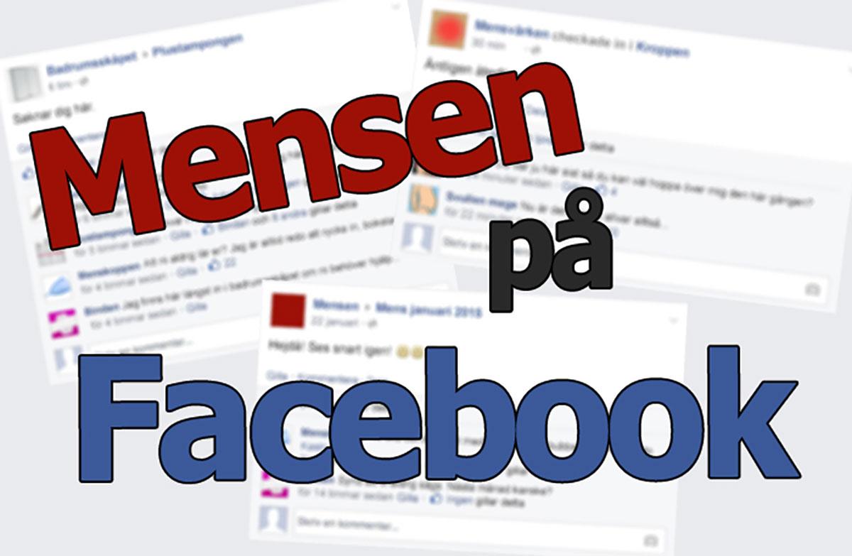 Så här skulle det kunna se ut om mensen hade Facebook