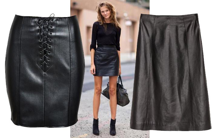 Svart kjol och svart topp. Hur man bär en svart kjol: det