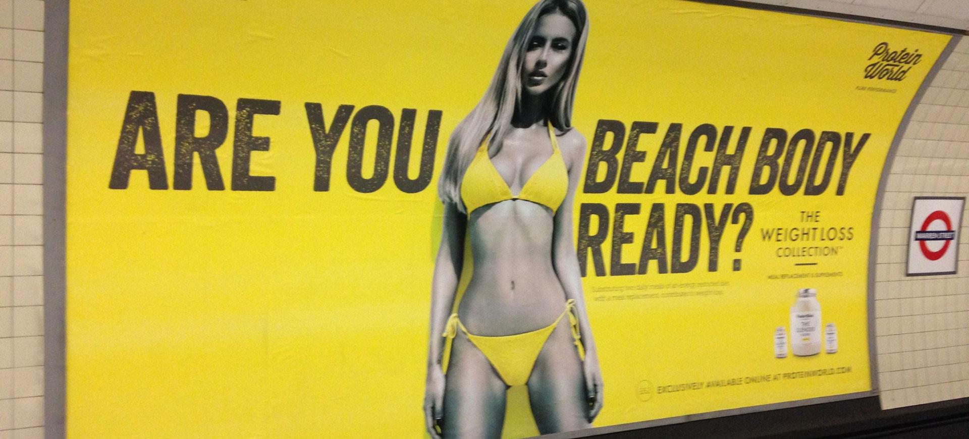 Nytt förbud mot kroppshetsande reklam