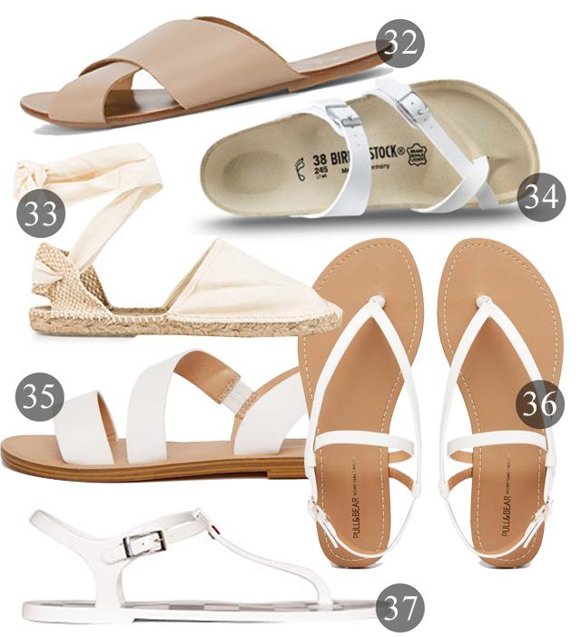 ljusa sandaler