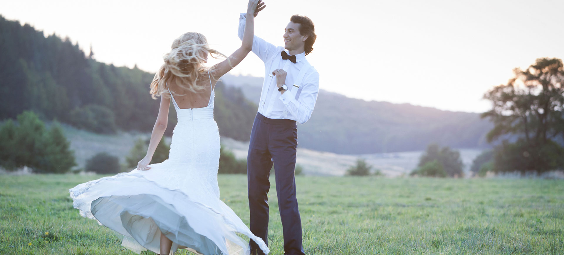 Dansande brudpar