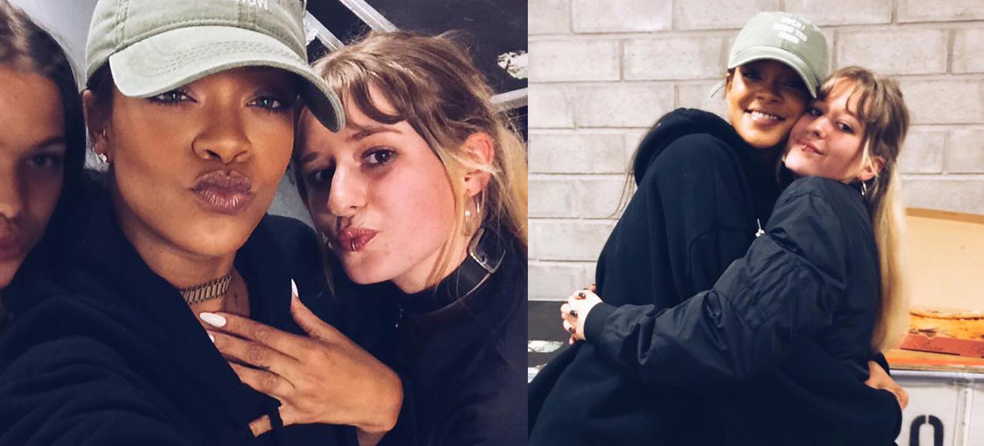 Rihanna träffade svenska fanet Ebba Lange i Stockholm