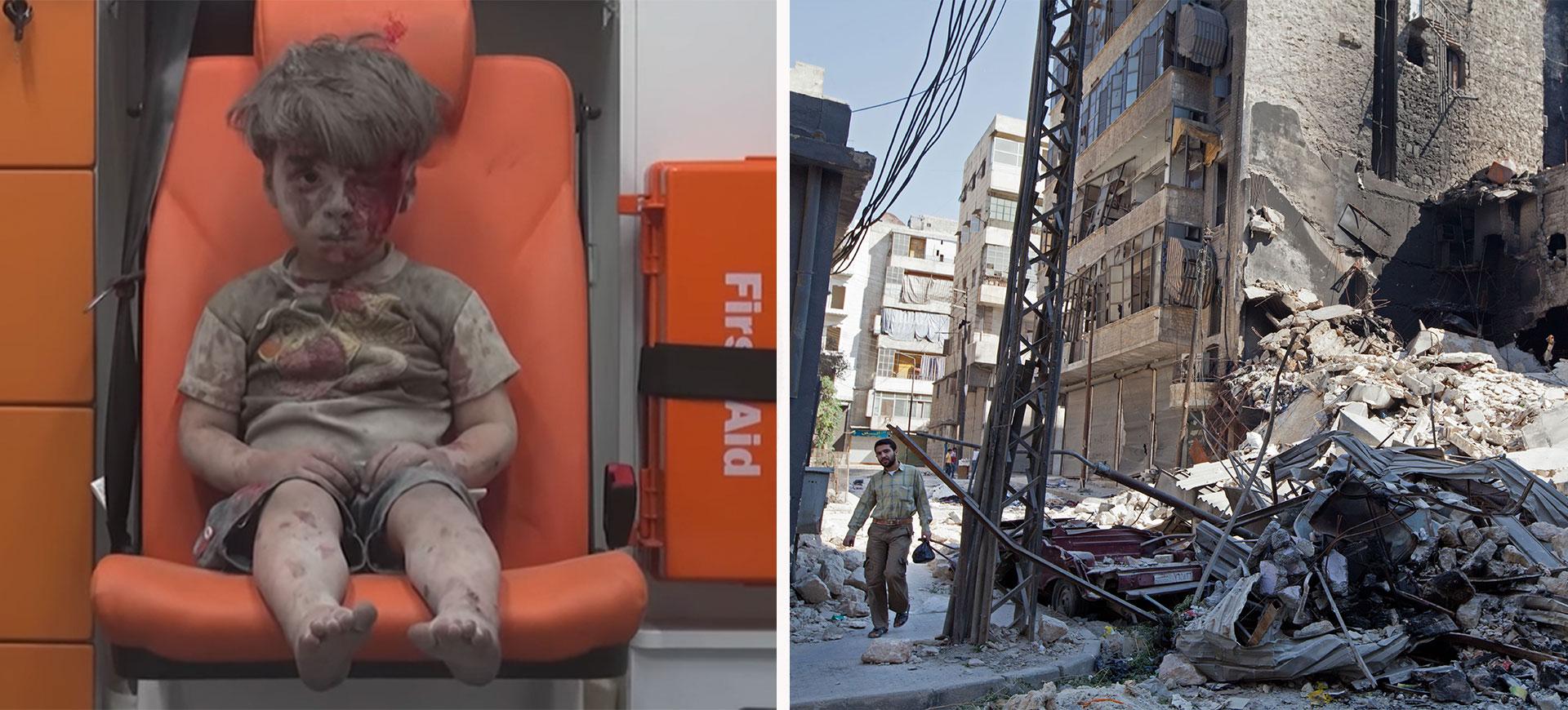 syrien pojke omran bombad