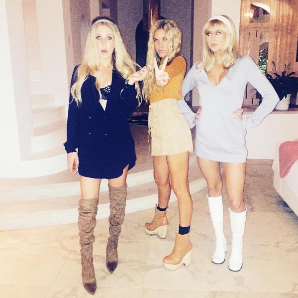 Peg Parnevik med systrarna Philippa och Penny