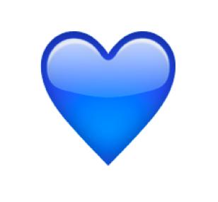 Vad betyder blått hjärta emoji