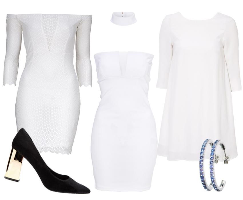 Vita klänningar i spets till student och sommar