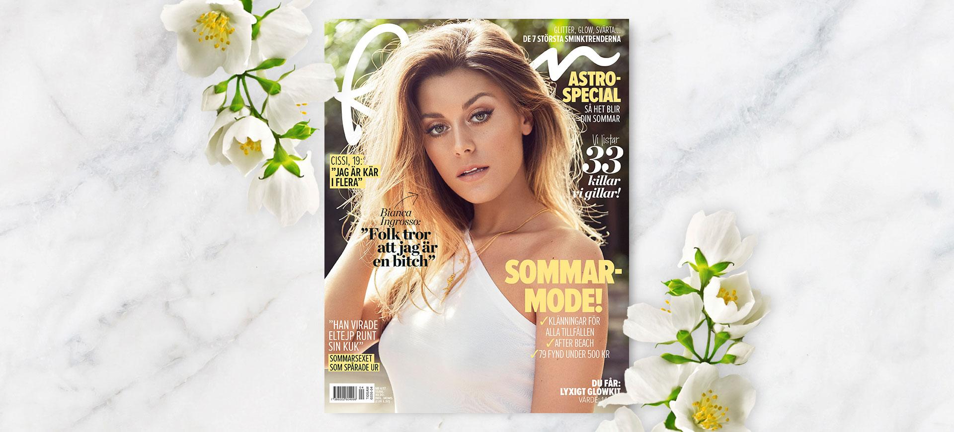 Bianca Ingrosso i stor intervju i nya numret av VeckoRevyn