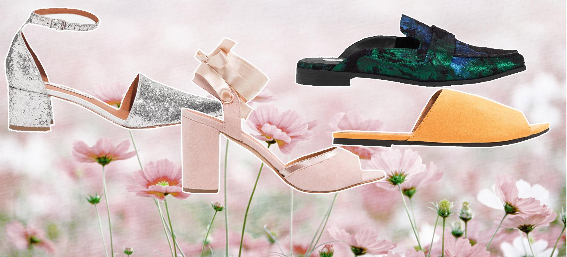 sommarskor för dam 2017: sandaler, slip-ins, klackar, flip flops, ballerina.