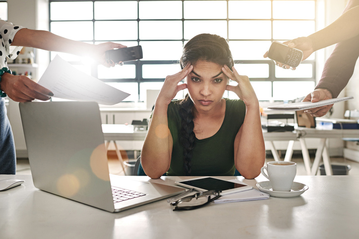 stressad på jobbet