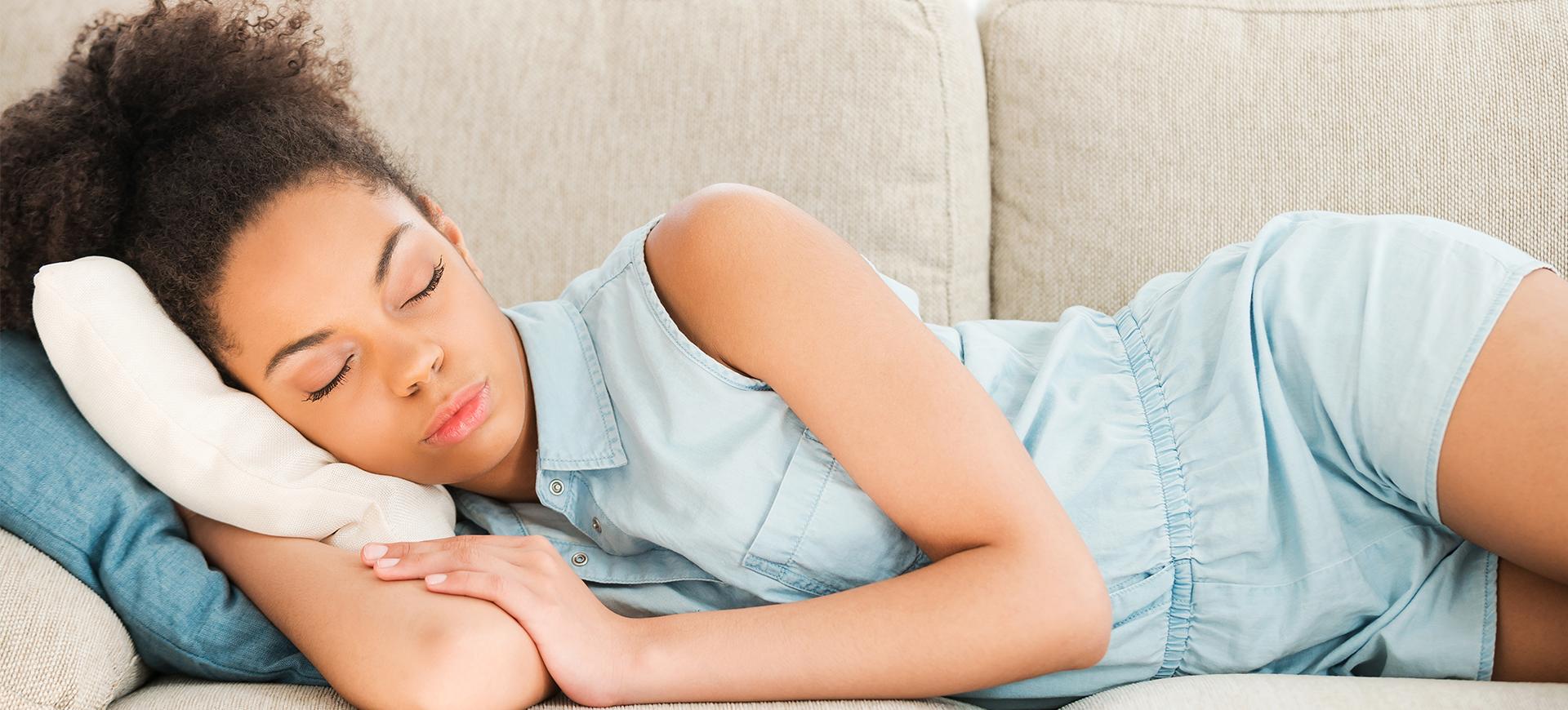 för mycket sömn