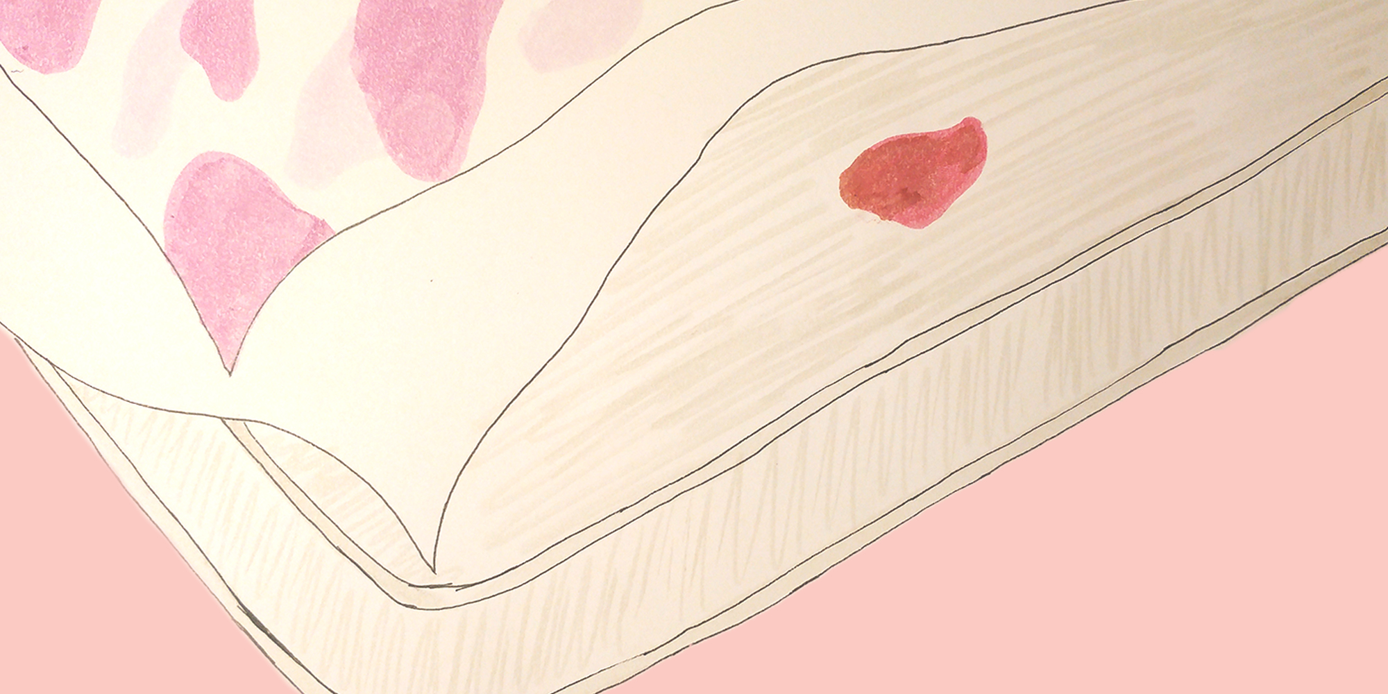 få bort blodfläckar madrass