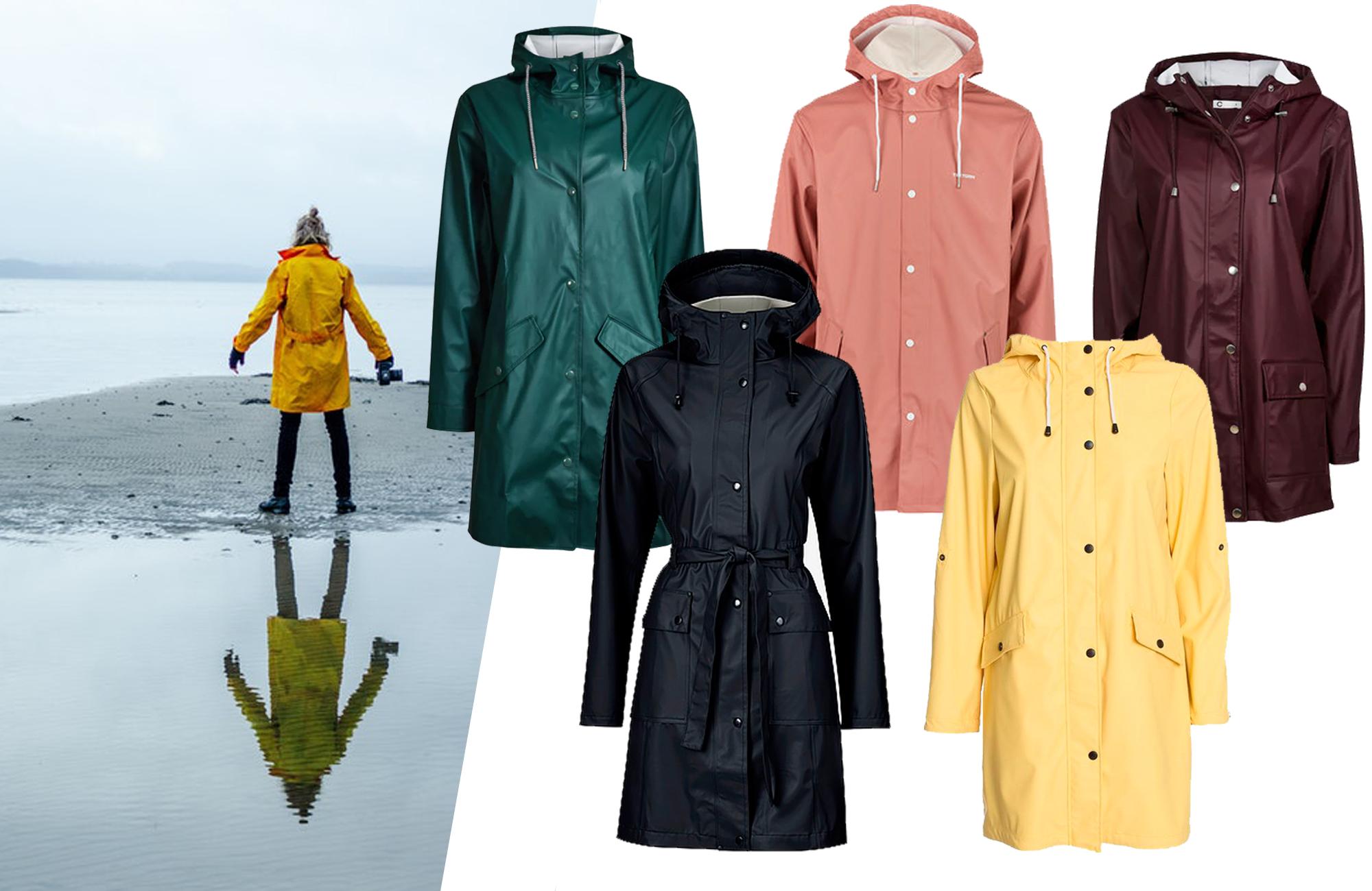 färgglada regnjackor dam