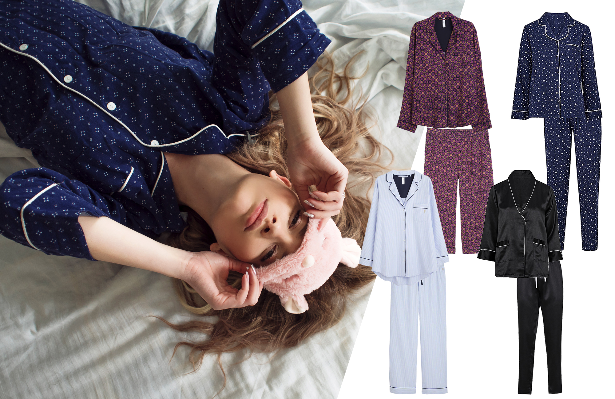 tvådelat pyjamasset för dam