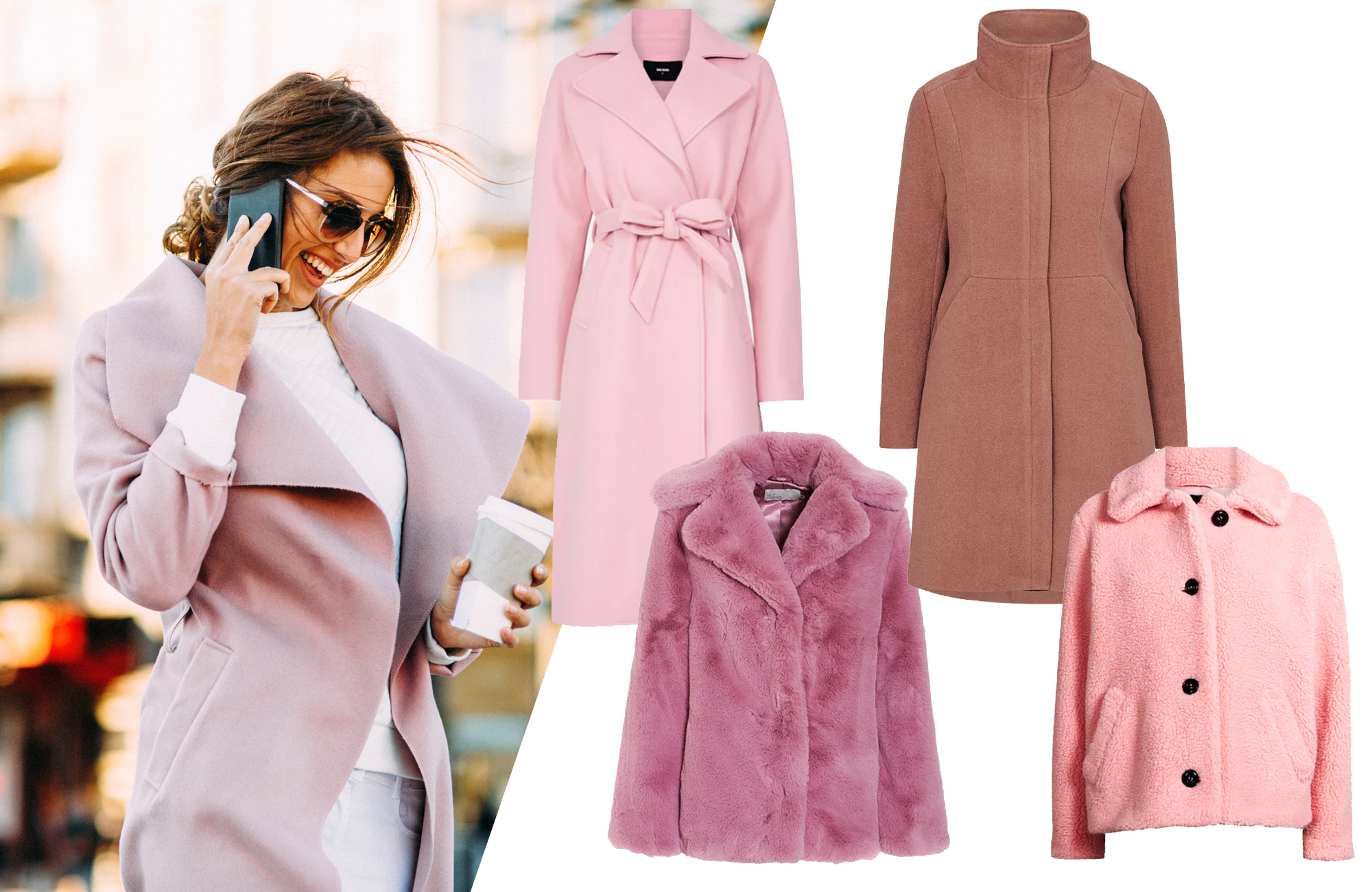 rosa jacka att bära i höst