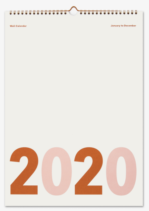 väggkalender 2020