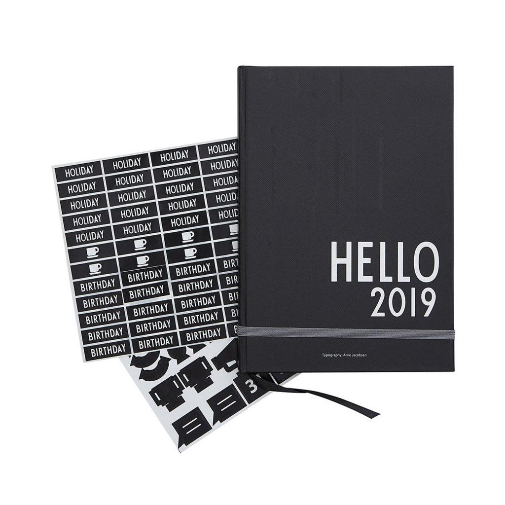 kalender med klistermarken