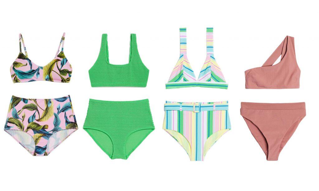 Badkläder bikini hög midja dam 2019