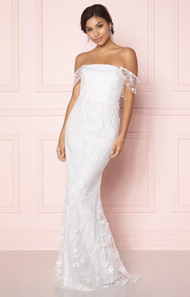 Vilken enkel bröllopsklänning i spets passar dig?