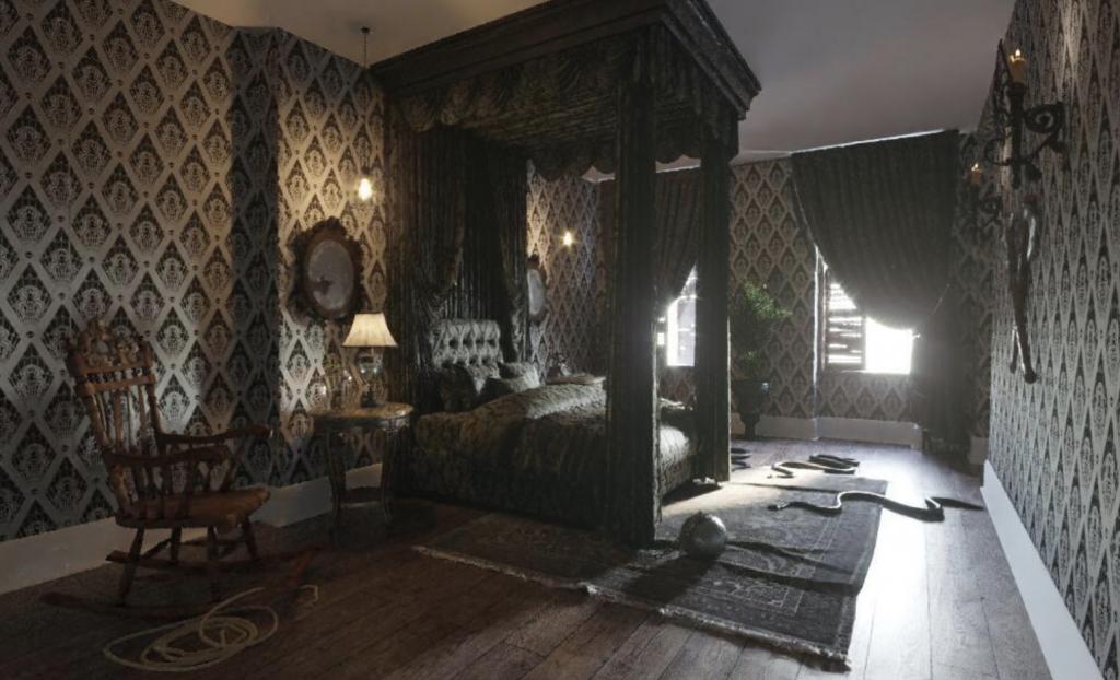 Fira halloween i familjen Addams mansion