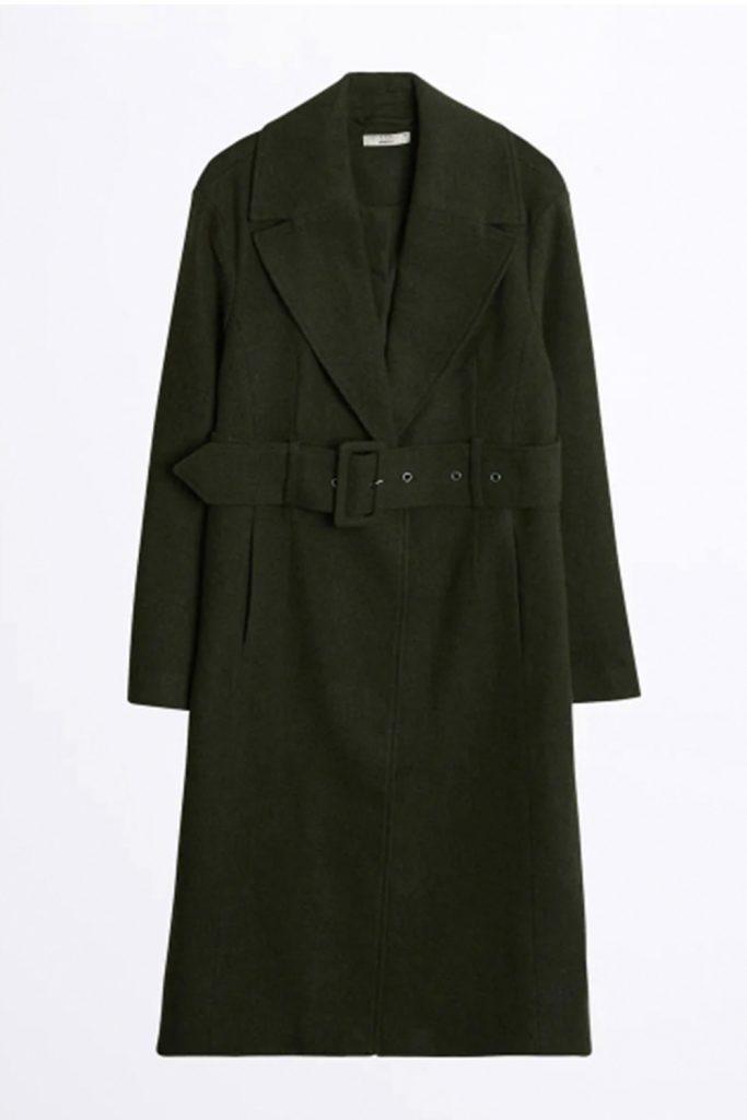 Grön höstkappa från Gina tricot