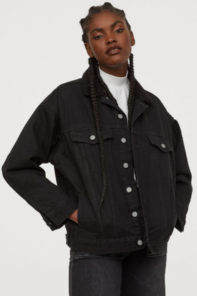 svart jeansjacka