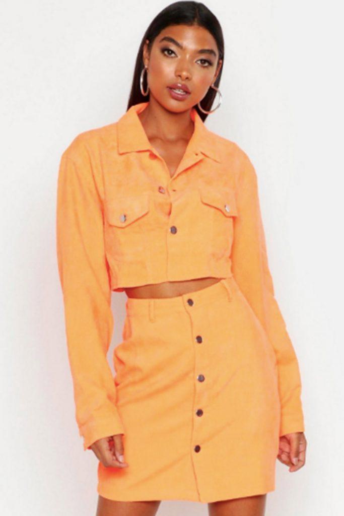 orange jeansjacka
