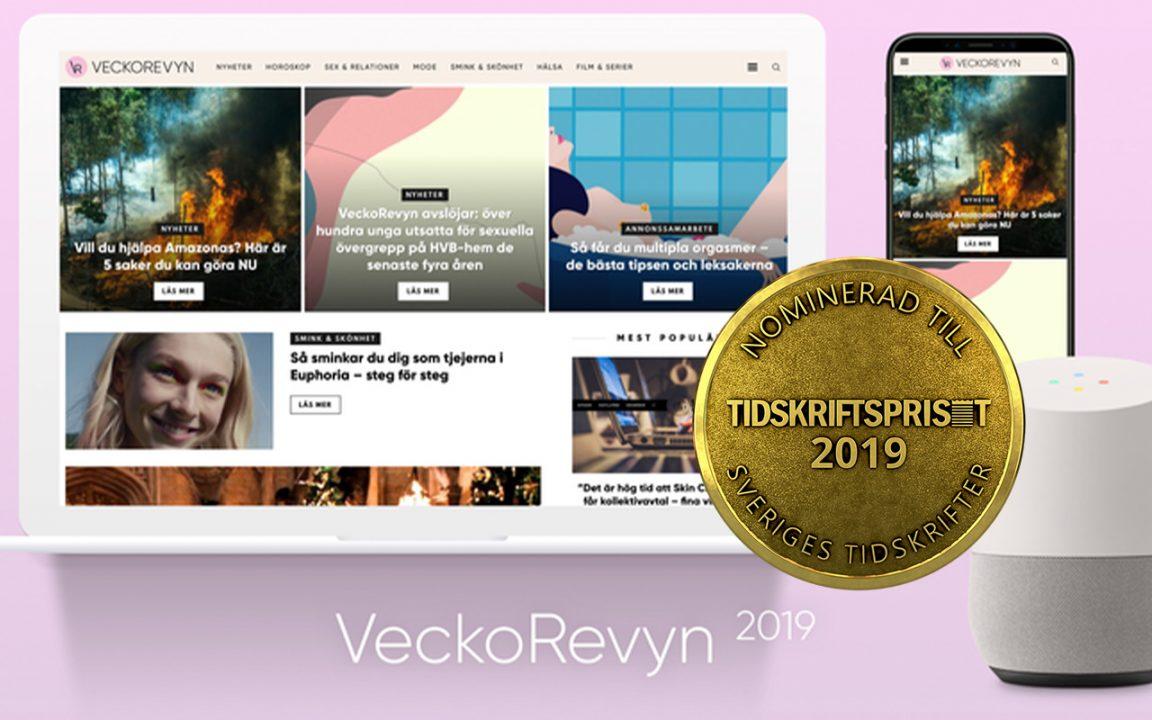 veckorevyn nominerade till tidskriftspriset 2019