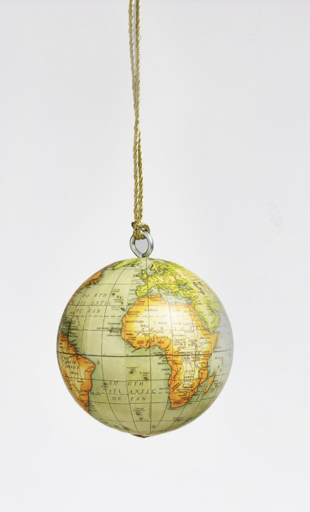 Julpynt för en äkta globetrotter