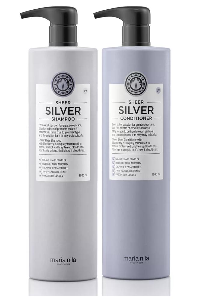 silverschampoo och balsam från maria nila