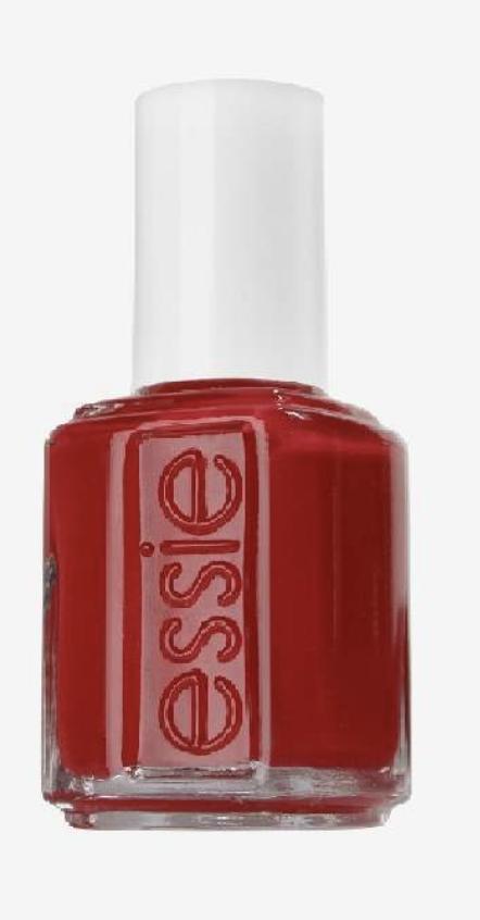 Julmanikyr: röda naglar med glitter