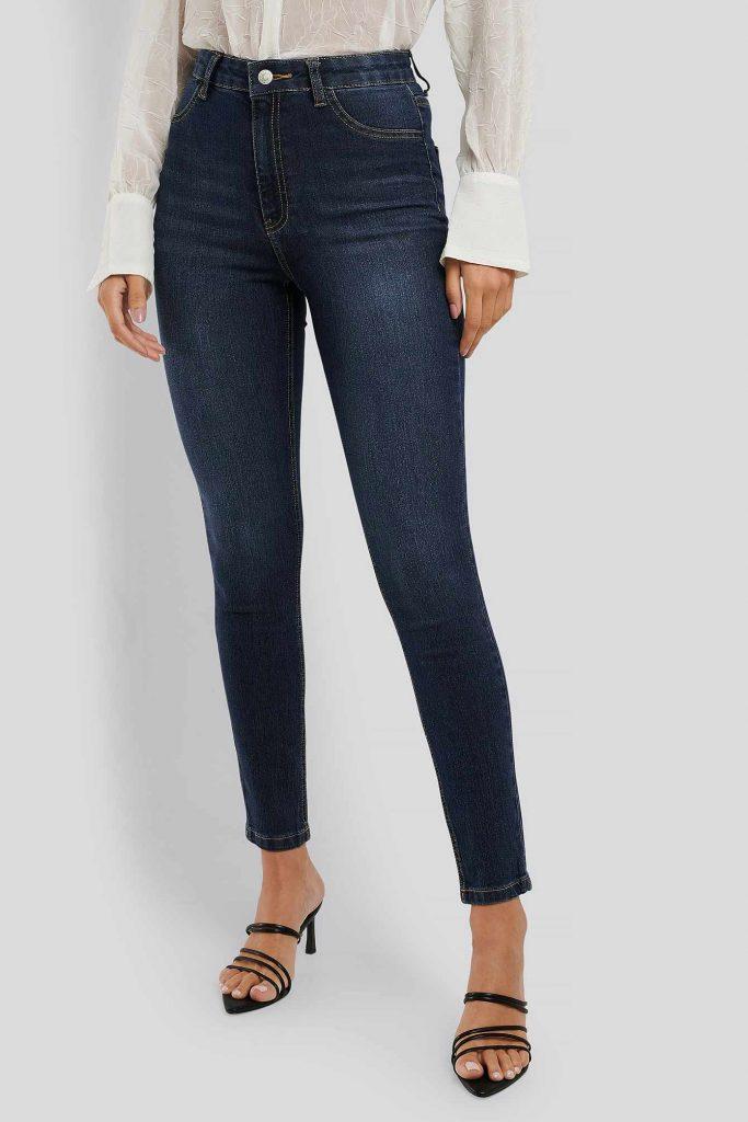Skinny jeans med låtsasfickor