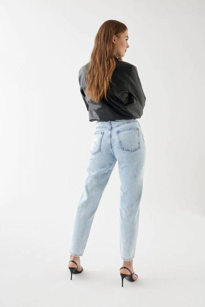 Ljusblå loose jeans
