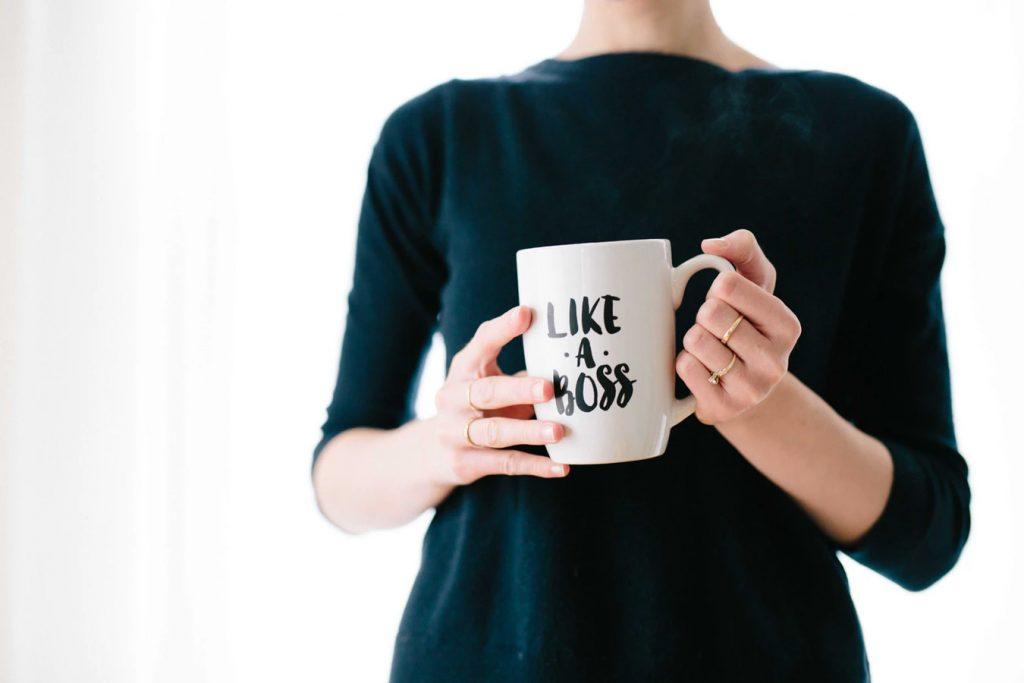 Starta eget företag, like a boss mugg