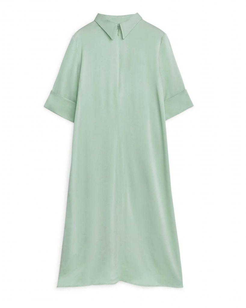 Grön studentklänning