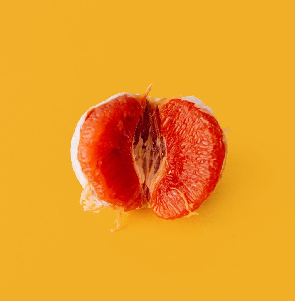 Grapefruit som liknelse för en fitta