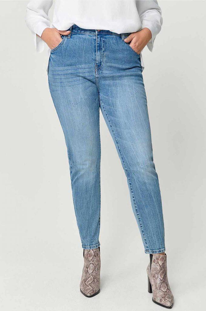 Blå skinny jeans