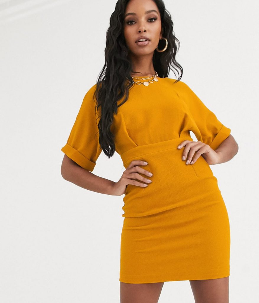 Kort orange studentklänning