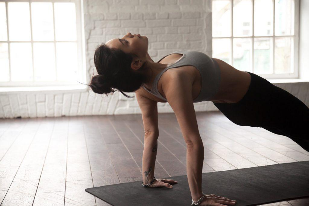 Övningar för plankan - Omvänd planka
