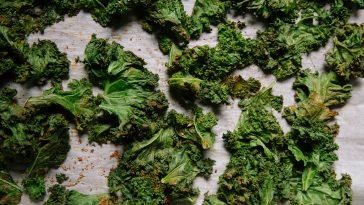 grönkålschips nyttiga i varmluft