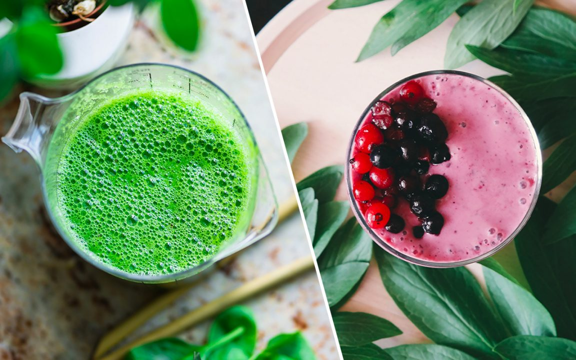 hur gör man grön smoothie recept 1