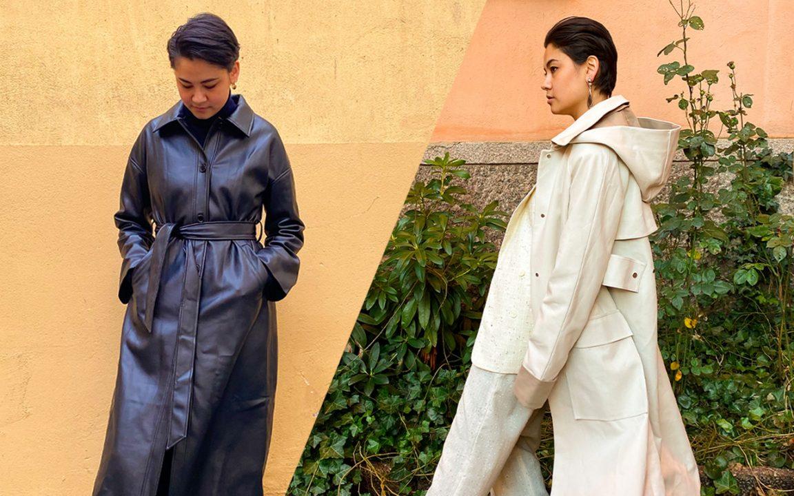 vårmode: trenchcoat och kappa för dam