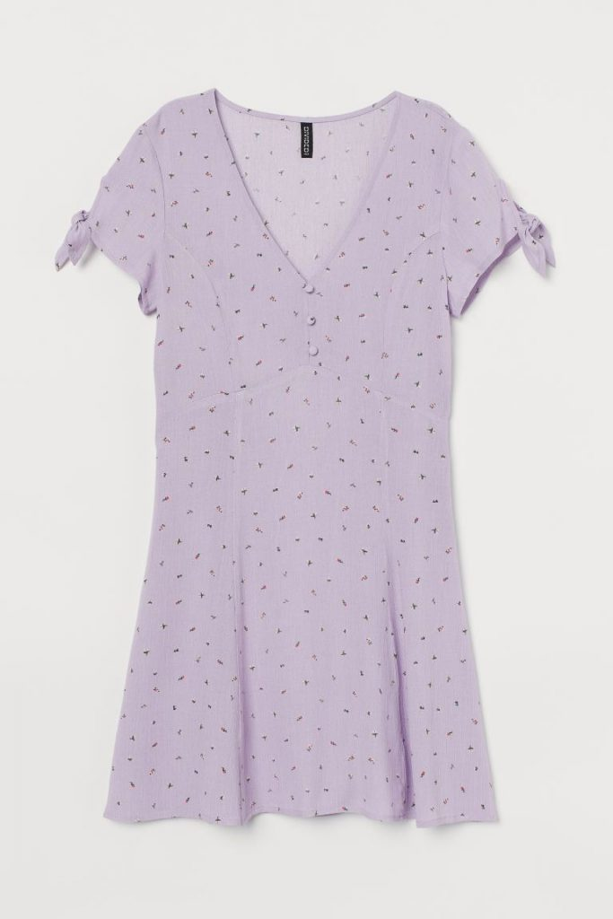 Studentklänning i lila från H&M
