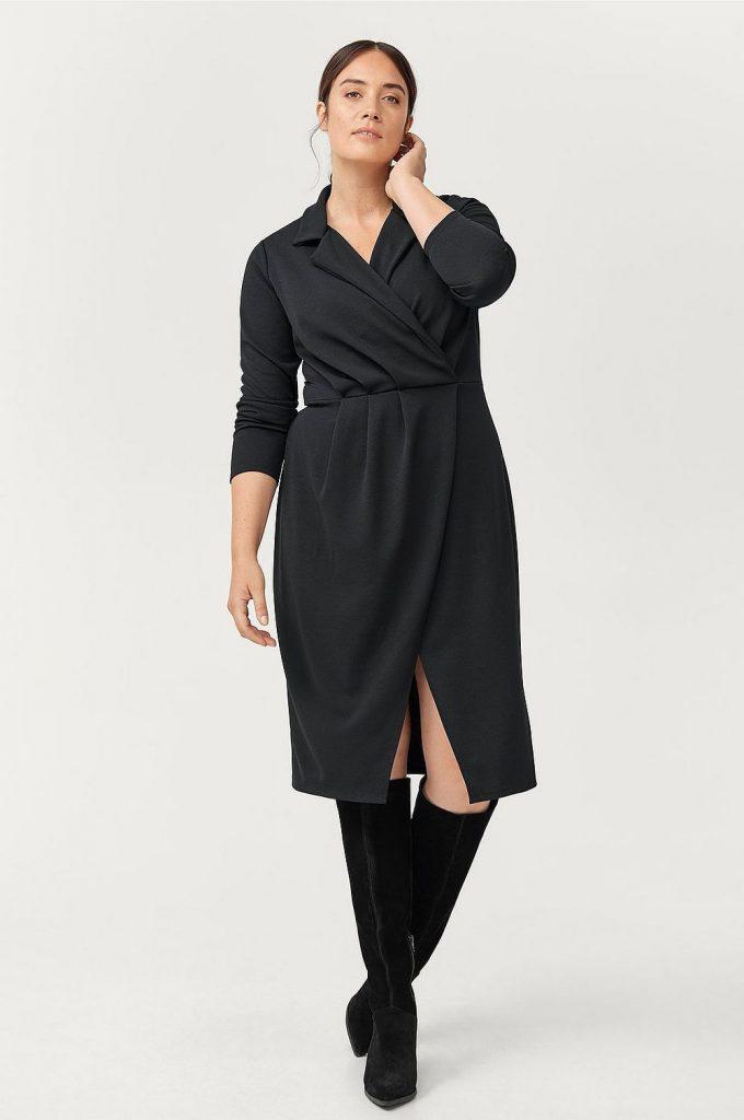 Svart klänning plus size från Ellos plus size