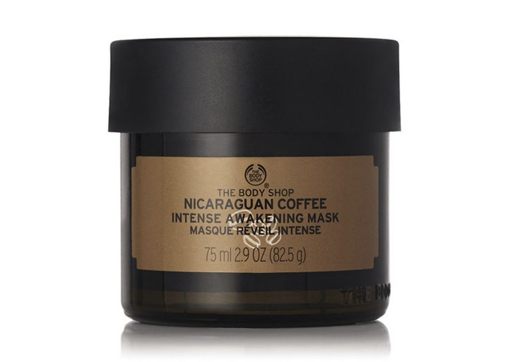 ansiktsmask fuktgivande med kaffe