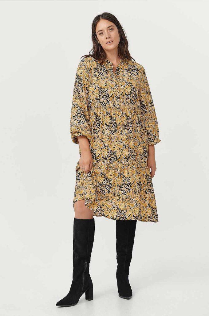 Gul plus size klänning från Ellos plus size
