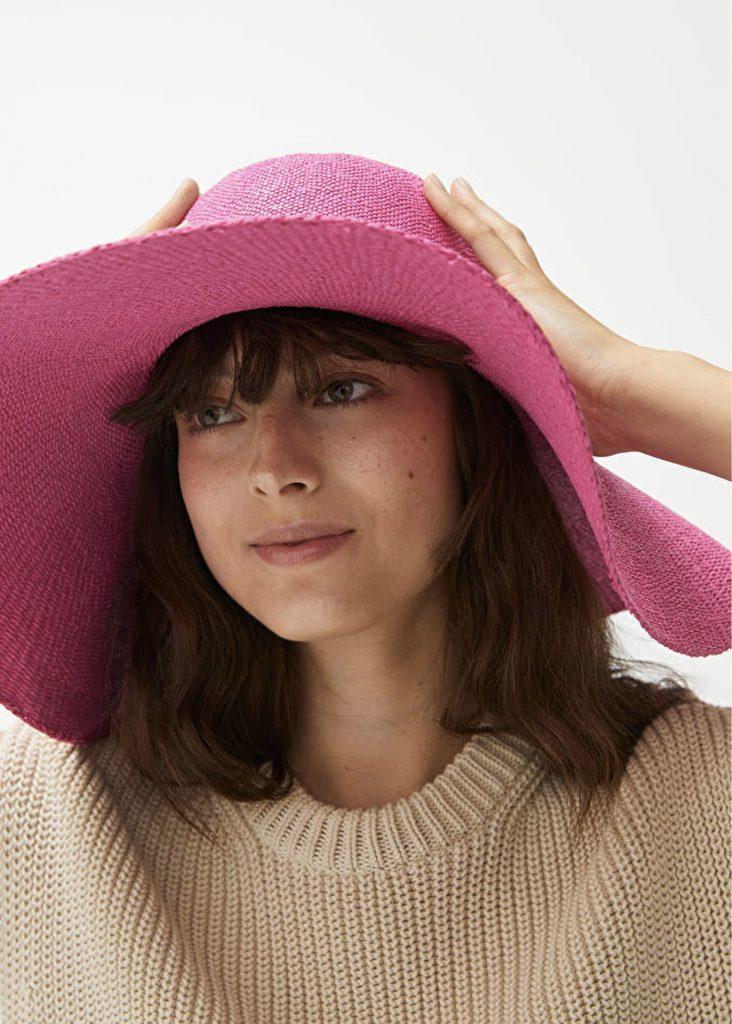 rosa solhatt för dam