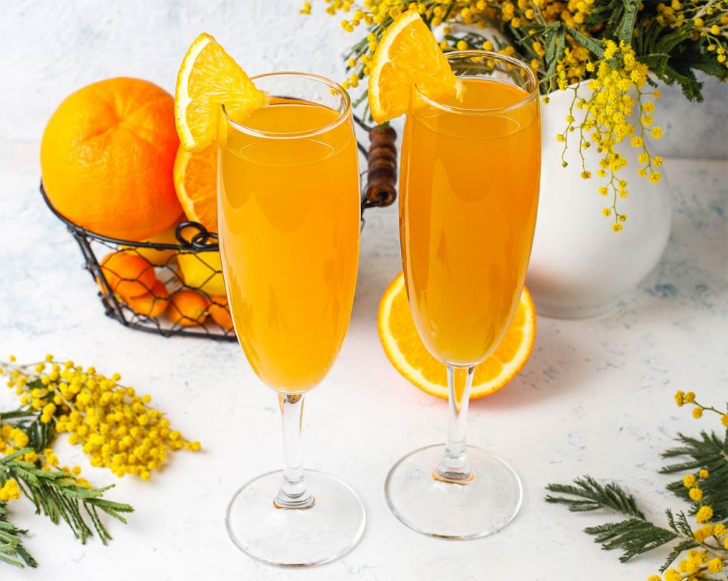 Mimosa recept apelsin champagne